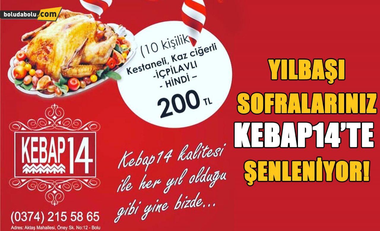 KEBAP 14'TEN HİNDİ MENÜ